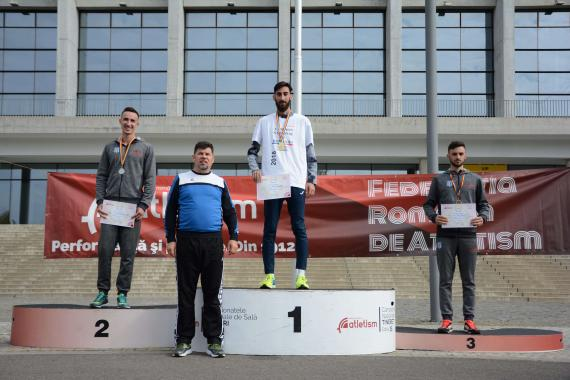 Andrei Gafita winning the first place on the race walking National Championship  -  ASSIST Software
