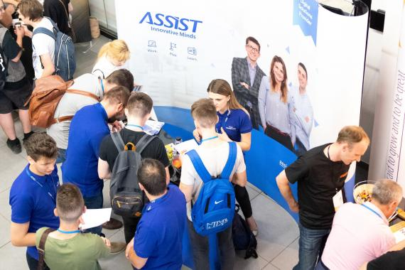 ASSIST Software stand at Codecamp Chișinău 2018