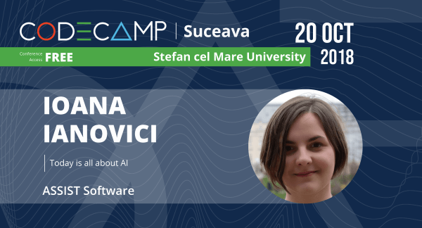 ASSIST Software representant speaker at Codecamp Suceava - Ioana Ianovici