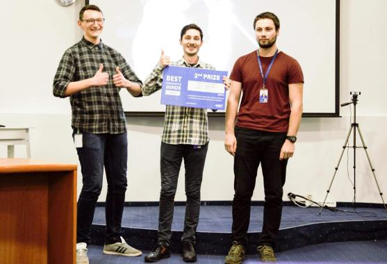 The second prize winners of ASSIST Software contest - Best Innovative Minds
