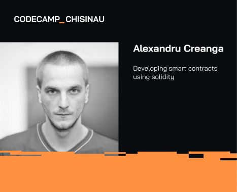Meet ASSIST Software at Codecamp Chișinău 2019 - Alexandru Creangă speaker at Codecamp Chisinau