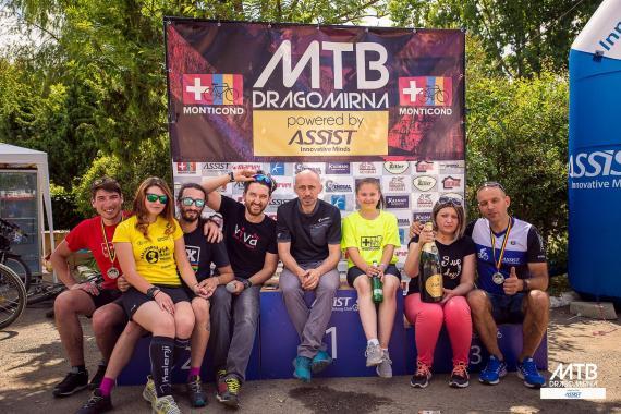 MTB Dragomirna contest organizer along in a single photo