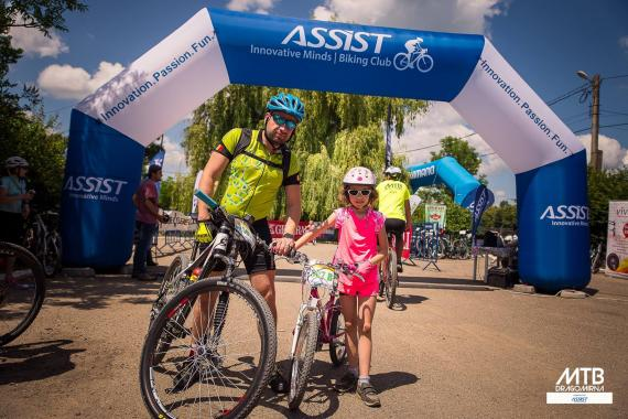 MTB Dragomirna powered by ASSIST Software finish and start gate