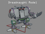 High Poly Dreadnought Model Png